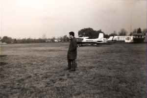 Michael Hruby at an airfield in Chardon, Ohio (Photo property of Mary Hruby).