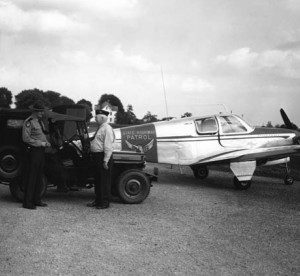 The Ohio State Highway patrol first used Jeeps and this Mooney aircraft in the 1940s. (SOURCE: State Highway Patrol)
