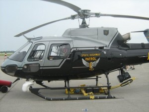 One of the Ohio State Highway Patrol's helicopters.  (SOURCE: State Highway Patrol)