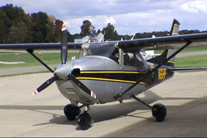 One of the airplanes George King uses to patrol the skies of Northeast Ohio's District Four.